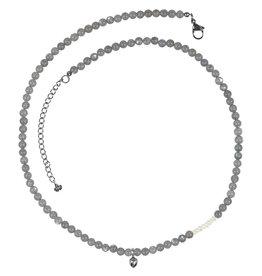 Pimps and Pearls Mya Mala Short Necklace 19 Labradorite