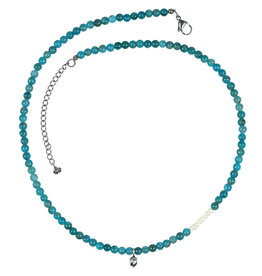 Pimps and Pearls Mya Mala Short Necklace 20 Apatite
