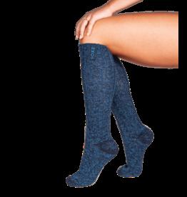 Soxs SOXS Wollen Damessokken Donker Blauw - Kniehoogte