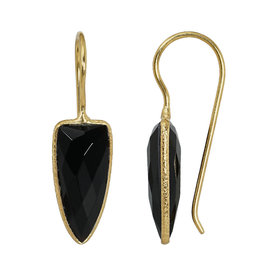 Pimps and Pearls EarRing Riva Arrow 101 Agate Black Gold