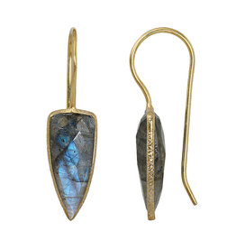 Pimps and Pearls EarRing Riva Arrow 111 Labradorite Gold
