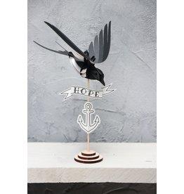 Assembli Papieren 3D Vogels - Zwaluw - Zwart-Wit