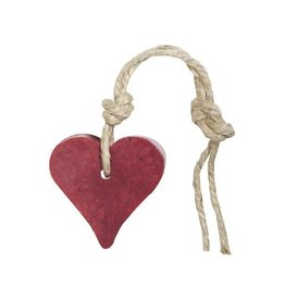 Mijn Stijl Zeephanger hart kersenrood met cranberrypit parfum vijg 55 gram