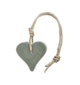 Mijn Stijl Zeephanger hart legergroen parfum olive 55 gram