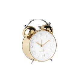 Karlsson Alarm clock Wekker Mr White Gold