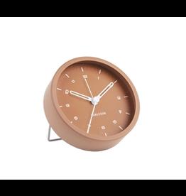 Karlsson Alarm clock Wekker Tinge steel brown