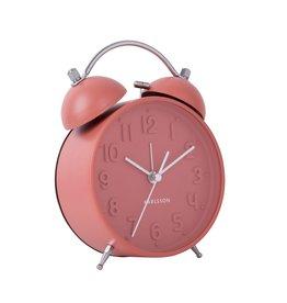 Karlsson Alarm clock Wekker Iconic coral pink