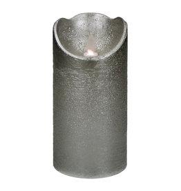 Pomax LED Kaars kunststof met waxlaag  - Zilver