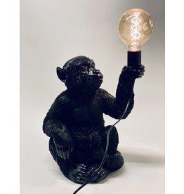 Bijzonder Design Store Aap Lamp - Zittend Zwart