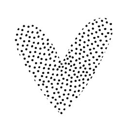Zoedt Muurcirkel in hartvorm - stippen - 30cm