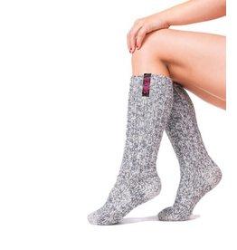 Soxs SOXS Wollen Kindersokken Grijs - Kniehoogte