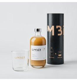 Gimber Gimber Giftset - Koker met 500ml en Gimber branded glas