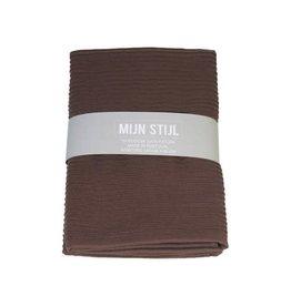 Mijn Stijl Handdoek XL Bruin 130 x 60 cm met banderol