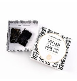 The Big Gifts Kaart en cadeau in een luxe doosje - Mini high tea - Speciaal voor jou