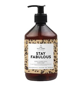 The gift label Handzeep 500 ml- Stay Fabulous