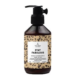 The gift label Hand lotion - Stay Fabulous