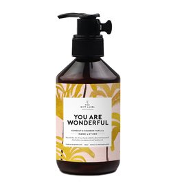 The gift label Hand lotion - You are wonderful
