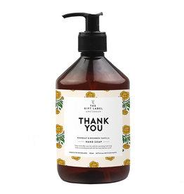 The gift label Handzeep - Thank you