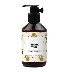 The gift label Hand lotion - Thank you