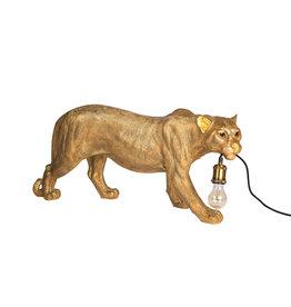 Bijzonder Design Store Luipaard Lamp - Staand Groot - Goud