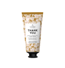 The gift label Handcrème tube  - Thank you