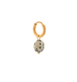 Label Kiki Single dalmatian round hoop gold