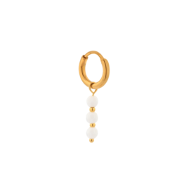 Label Kiki Single triple white hoop gold