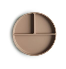 Mushie Mushie Silicone plate - Neutral