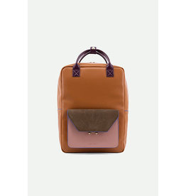 Sticky Lemon Backpack Sticky Sis Club backpack - Cider brown - Dusty pink - Olive green