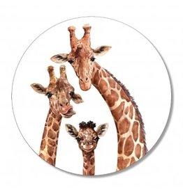 The Big Gifts Muurcirkel - Giraffen - 30cm