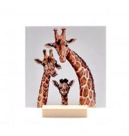 The Big Gifts Tegeltje incl. houder - Giraf