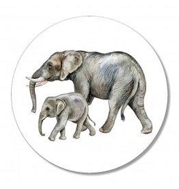 The Big Gifts Muurcirkel - Olifanten - 30cm