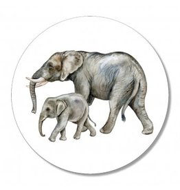 The Big Gifts Muurcirkel - Olifanten