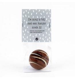 The Big Gifts Chocolade bomb met marshmallows - De zorg is blij met een kanjer zoals jij