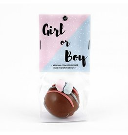 The Big Gifts Chocolade bomb met marshmallows -Gender reveal girl