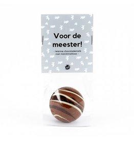 The Big Gifts Chocolade bomb met marshmallows - Voor de meester!