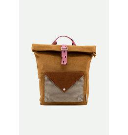 Sticky Lemon Large backpack corduroy | dijon + gingerbread + bubbly pink