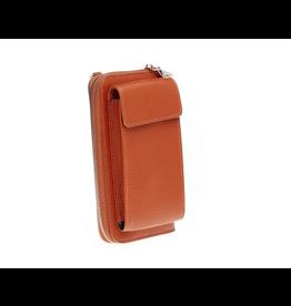 Elvy Demi Phone Wallet Bag - Cognac