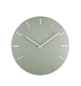 Karlsson Wall Clock Gold Charm Green 45cm
