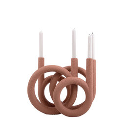 PT Living Kandelaar Ring | Terracotta
