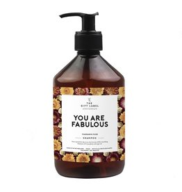 The gift label Shampoo 500 ml - You are fabulous