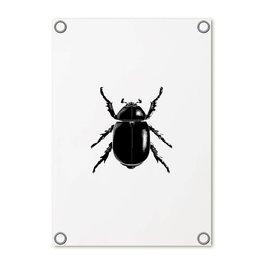 Zoedt Tuinposter wit met kever | 60x80 cm
