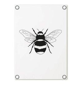 Zoedt Tuinposter wit met hommel | 60x80 cm