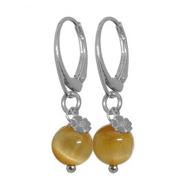 Pimps and Pearls Earring Rocks 39 edelsteen - Tiger Eye