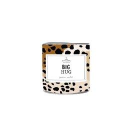 The gift label Geurkaars in blik small - Big hug - Fresh cotton