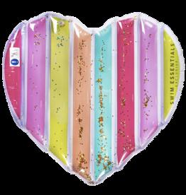 Swim Essentials Luxe water luchtbed - Regenboog hart