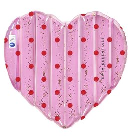 Swim Essentials Luxe water luchtbed - Roze hart