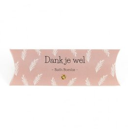 The Big Gifts Gondeldoosje bath bombs - Dankjewel