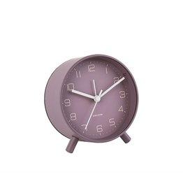 Karlsson Alarm Clock Wekker - Lofty - Dark Purple 11 cm