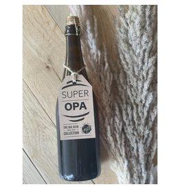 The Big Gifts XL bierfles 'Super Opa'